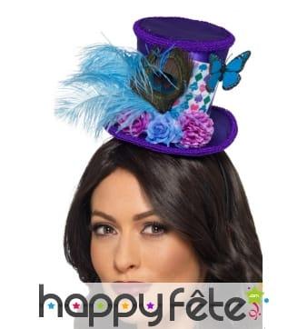 Mini chapeau du chapelier fou pour femme