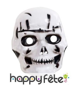 Masque crâne en plastique pour enfant