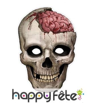 Masque crâne et cerveau en papier