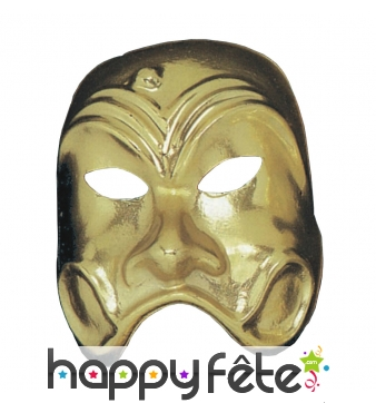 Masque comédie grecque doré