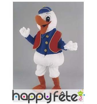 Mascotte canard habillé