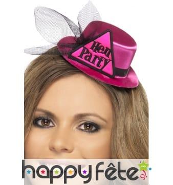 Mini chapeau hen party rose