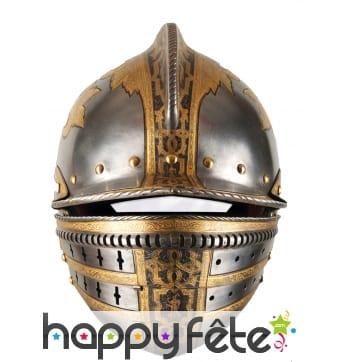 Masque casque médiéval en carton