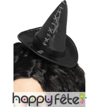 Mini chapeau noir sorcière