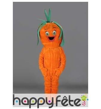 Mascotte carotte orange