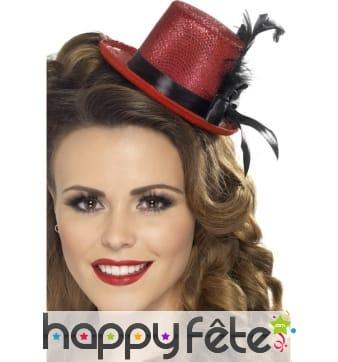 Mini chapeau rouge