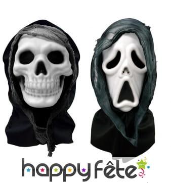 Masque cagoule squelette