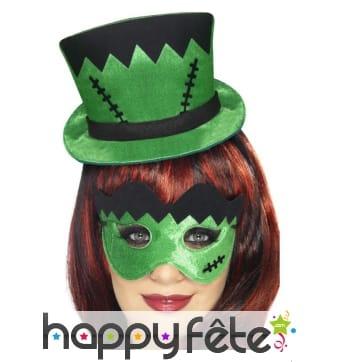 Masque chapeau vert