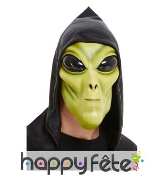 Masque d'alien vert pour adulte