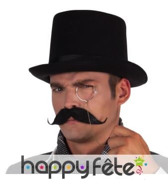 Moustache d'aristocrate, adhésive