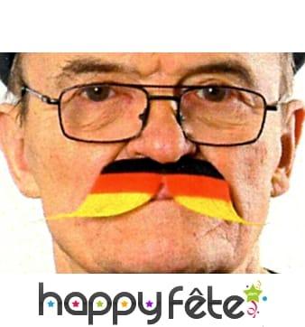 Moustache drapeau allemand