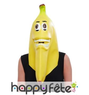 Masque de banane intégral en latex pour adulte