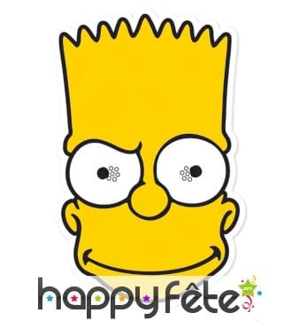 Masque de Bart Simpson en carton