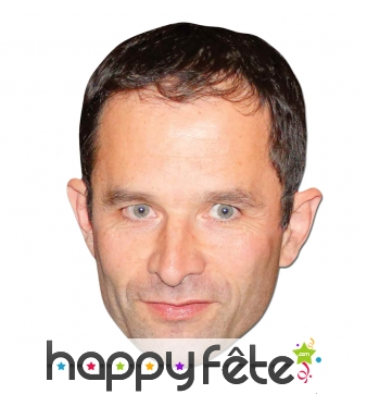 Masque de Benoit Hamon en carton