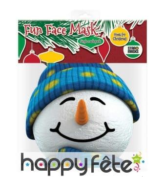 Masque de Bonhomme de neige en carton