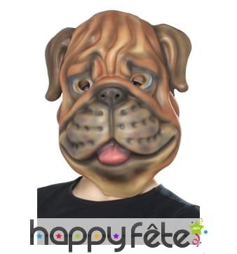 Masque de bulldog pour enfant
