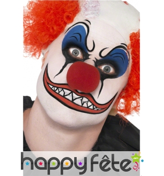 Maquillage de clown terrifiant