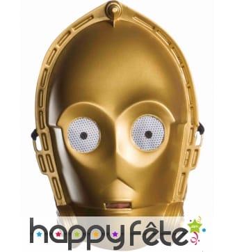Masque de C3PO pour adulte, modèle vintage