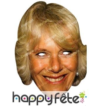 Masque de Camilla Parker Bowles en carton plat