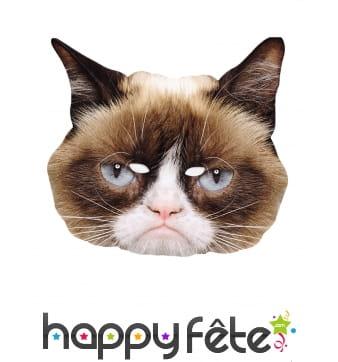 Masque de chat râleur en carton