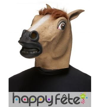 Masque de cheval en latex