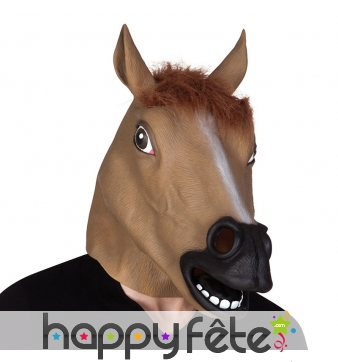 Masque de cheval intégral pour adulte