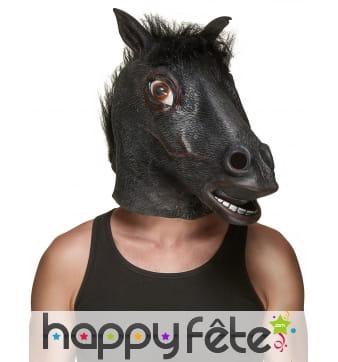 Masque de cheval noir pour adulte