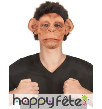 Masque de chimpanzé avec bouche articulée
