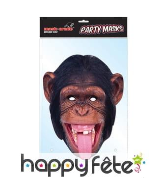 Masque de chimpanzé en carton