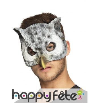 Masque de chouette pour adulte, facial