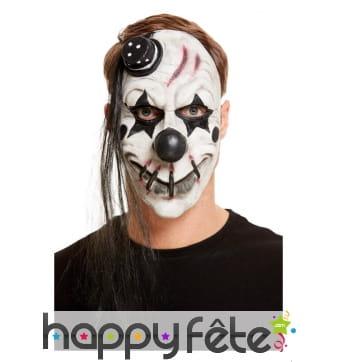 Masque de clown à la bouche cousue, adulte