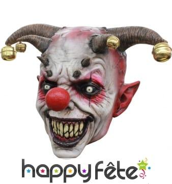 Masque de clown bouffon tueur intégral