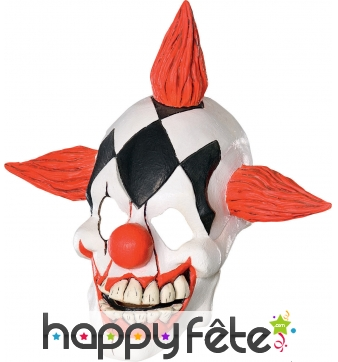 Masque de clown horrible au visage craquelé