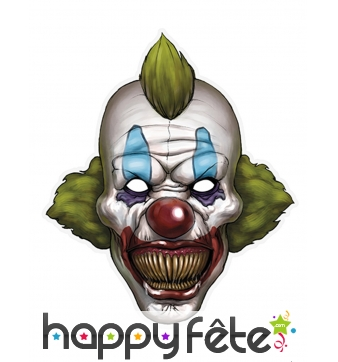 Masque de clown horrible en papier