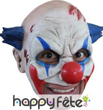 Masque de clown maléfique avec ouverture de bouche