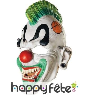 Masque de clown punk blanc et vert