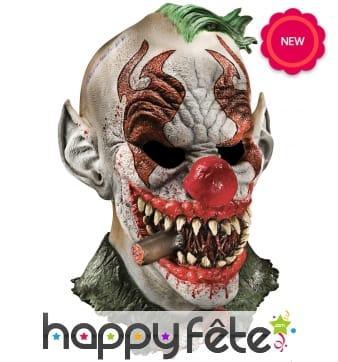 Masque de clown punk terrifiant en latex, Luxe