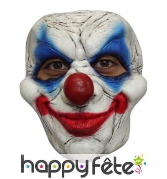 Masque de clown souriant et effrayant en latex