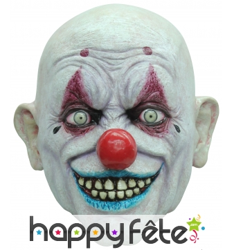 Masque de clown terrifiant chauve