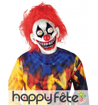 Masque de clown terrifiant yeux globuleux, adulte