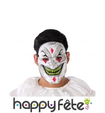 Masque de clown tueur au sourire maléfique, adulte