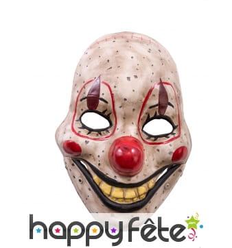 Masque de clown tueur avec bouche articulée