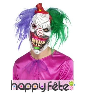 Masque de clown tueur intégral en latex