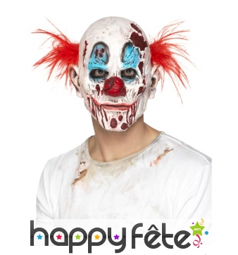 Masque de clown zombie en mousse de latex