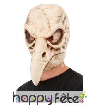 Masque de crâne d'oiseau intégral pour adulte