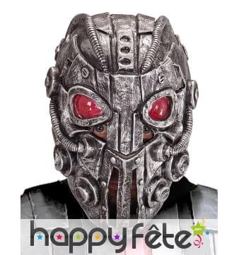 Masque de cyborg aux yeux rouges, intégral