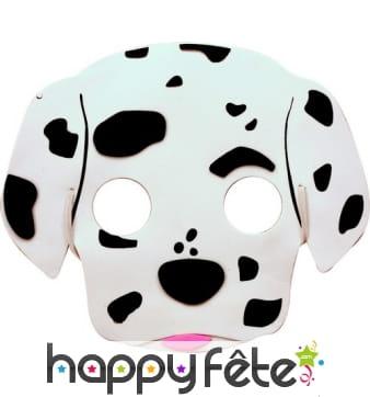 Masque de dalmatien pour enfant, en mousse