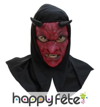 Masque de diable avec capuche