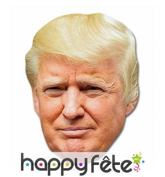 Masque de Donald Trump en carton
