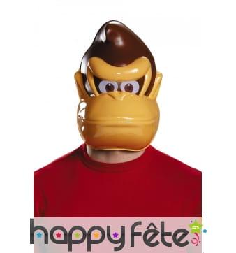 Masque de Donkey Kong pour adulte, en plastique